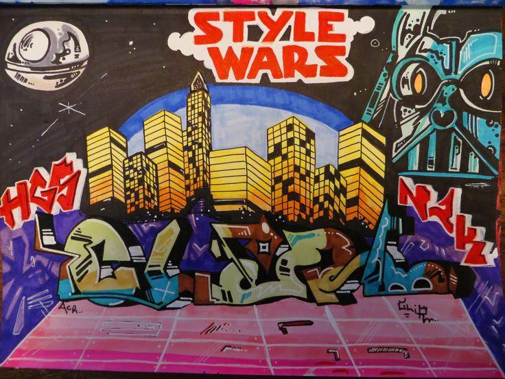 Darth Vader Style Wars, doodle, sketch. Charles Liquor