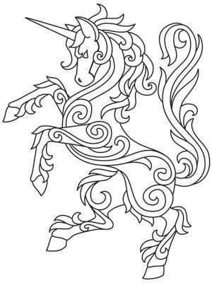 Gilded Heraldry - Unicorn design (UTH7823) from UrbanThreads.com