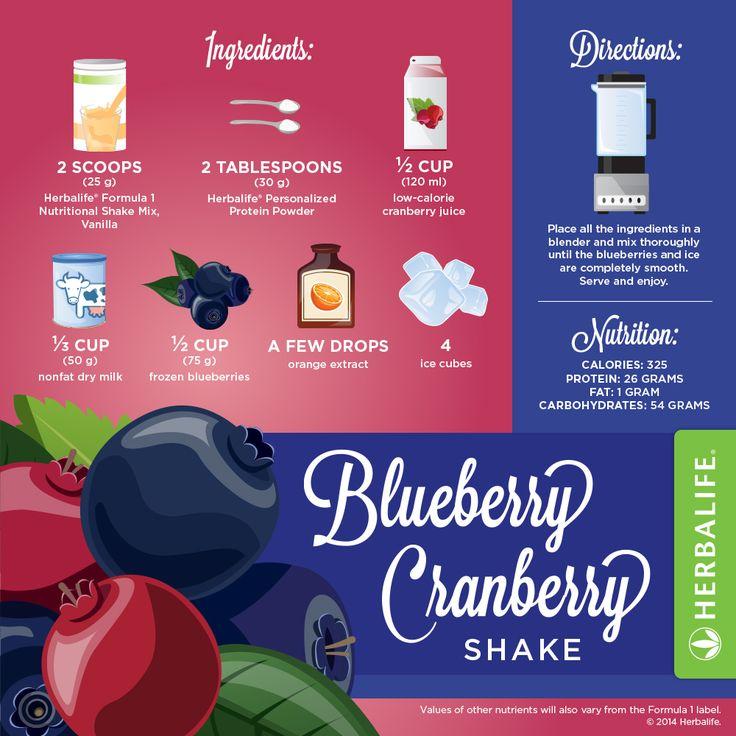 EN Herbalife Blueberry Cranberry Shake Recipe [Infographic] #Herbalifeshakerecipe #Herbalife #Infographics #herbaliferecipes https://www.goherbalife.com/shedpounds