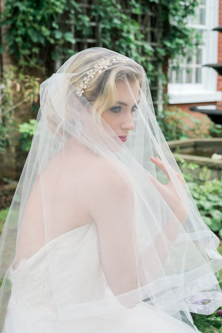 Veiled bride - victorian style