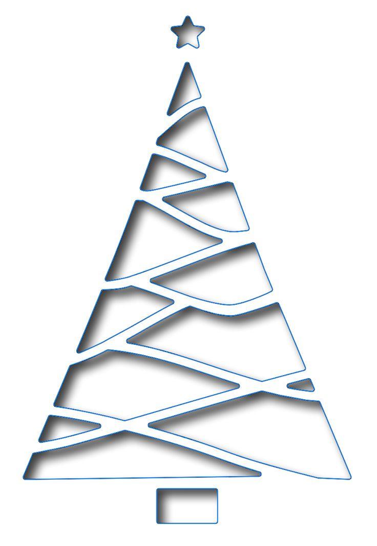 Frantic Stamper - Precision Dies - Reverse Cut Triangle Christmas tree Deens snijwerk