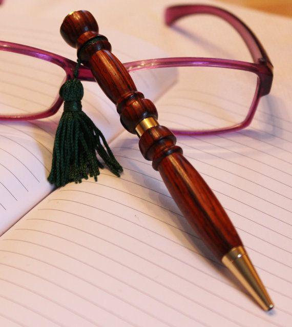 Wood Pen Hand Turned Bagpipe by handmadebyMarcyNTom