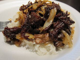 Korean beef from leftover roast! Yum!    I think I am gonna make this for dinner tonight!