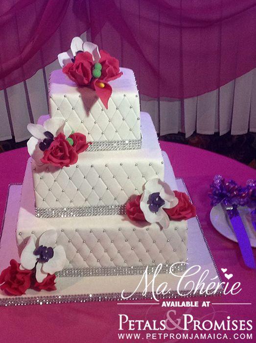 Three Tier Square Wedding Cake Designs