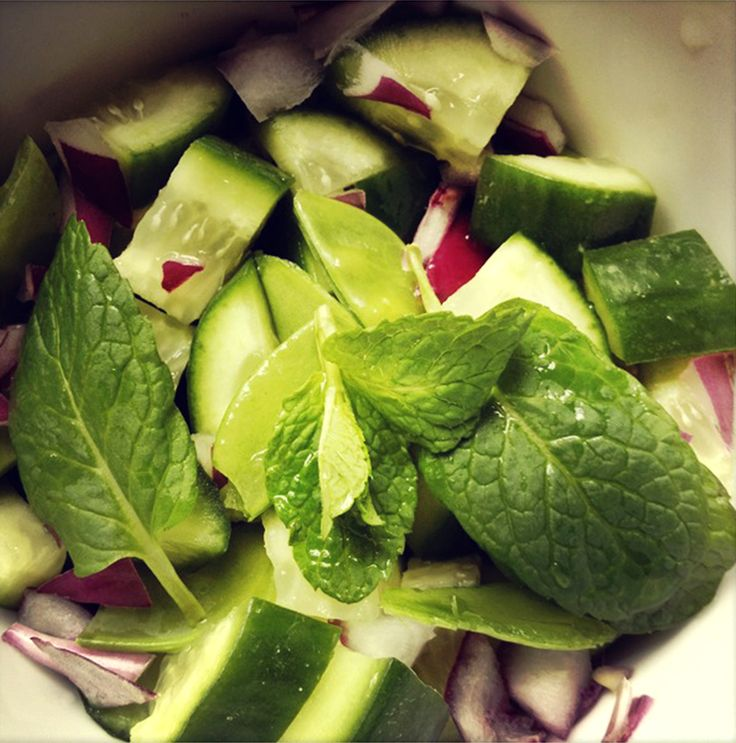 I know the weather isn't sunny and glorious but a little summer Mayver's recipe may bring some sunshine to your day.... Cucumber, Snowpeas & Tahini Mint Salad absolutely delightful. xx  Check out the recipe here http://www.mayvers.com.au/cucumber-snowpeas-tahini-mint-salad/