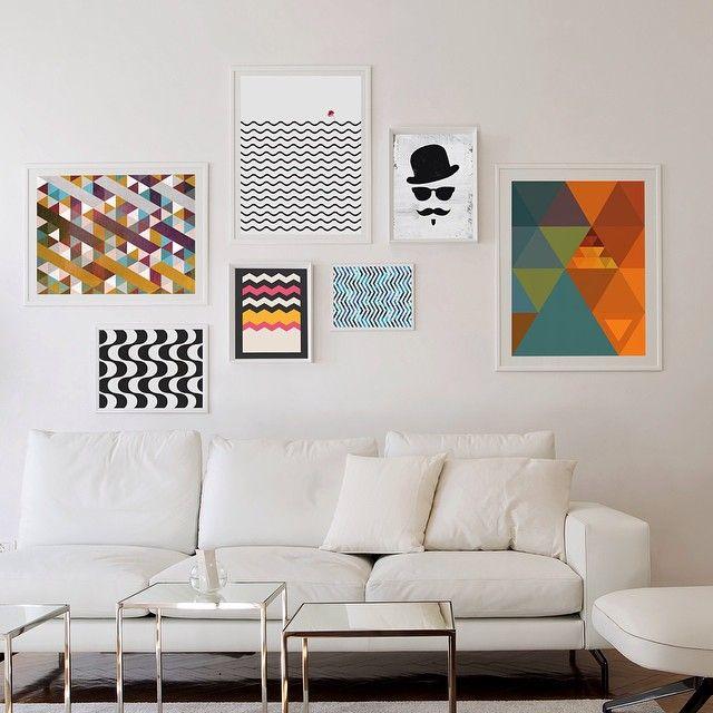Illustrationer och tavlor i modern heminredning