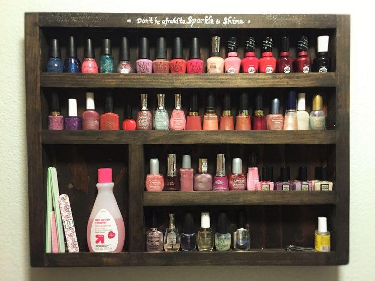 best 25 nail polish wall rack ideas on pinterest. Black Bedroom Furniture Sets. Home Design Ideas
