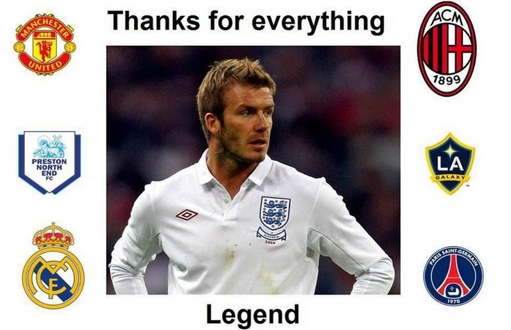 David Beckham: Tribute and Funny Memes about Retired Soccer Player Explodes on the Internet [PHOTOS] - Entertainment & Stars