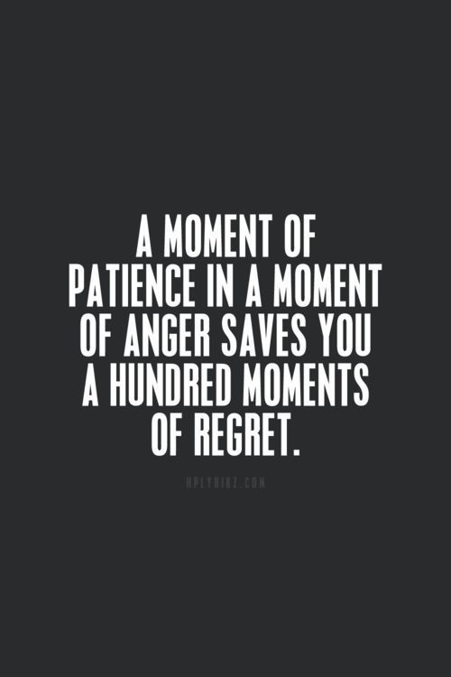 A moment of patience in a moment of anger saves you a hundred moments of regret. - 20 Amazing Quotes That Will Change Your Outlook On Life!