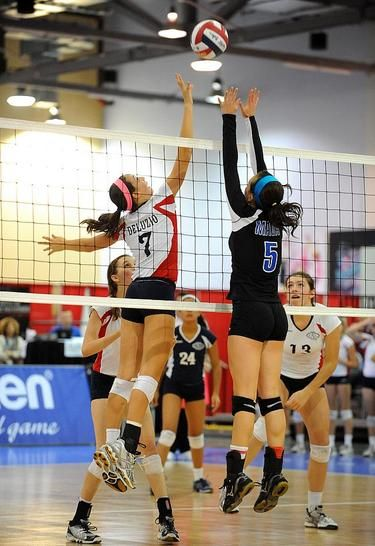 Day two of the 2012 Girls Junior National Volleyball Championships. What a great photo from usavolleyball.org
