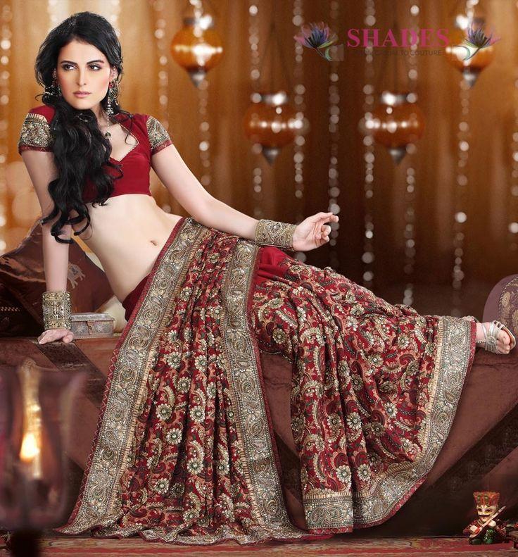 9 best wedding sarees images on pinterest wedding sarees for Sari furniture designer