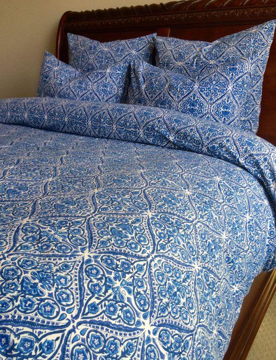 Blue duvet cover queen full duvet/ queen duvet by KaurtureInc