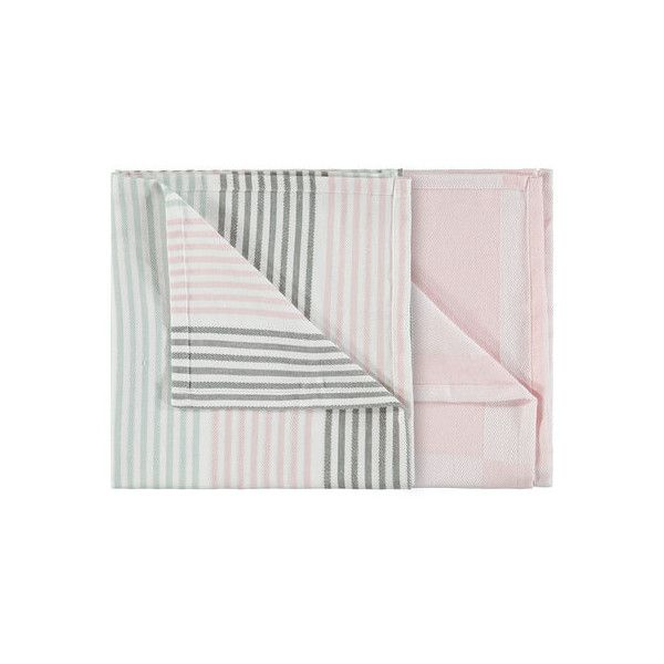 2 Jumbo Pink & Grey Tea Towels | Kmart ($3.95) ❤ liked on Polyvore featuring home, kitchen & dining, kitchen linens, grey kitchen towels, pink kitchen towels, pink tea towels, gray kitchen towels and grey tea towels