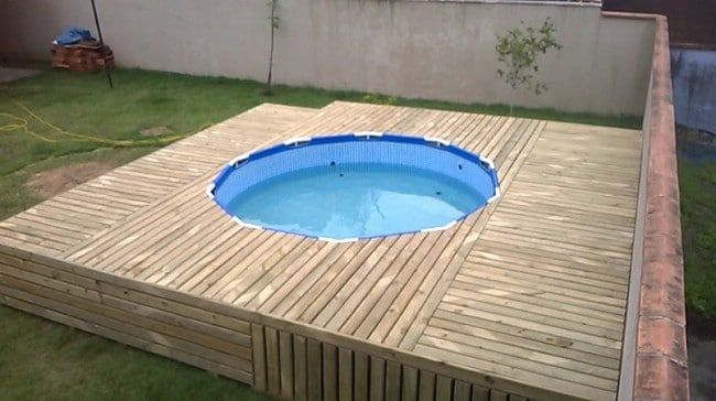 This Is An Unbelievably Beautiful Transformation For A Backyard Pool Diy Swimming Pool Swimming Pool Decks Pool Landscaping