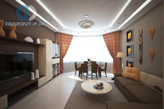 Гостиная в восточном стиле. Фото интерьера квартиры