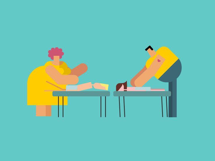 Massage loop #animation #gif