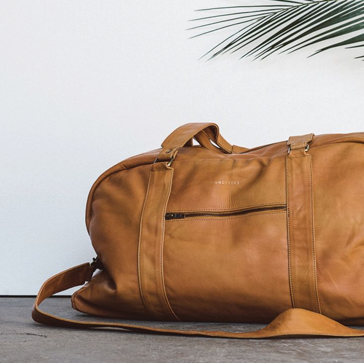 """""""The Roman"""" full grain leather duffle in tan by Wanderers Travel Co. wandererstravelco.com Photo by @scottsurplicephotography"""