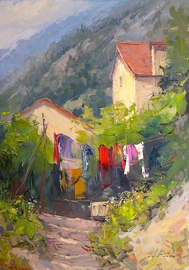 *casas rurales* me encanta esta acuarela, tiene toda una historia por contar.