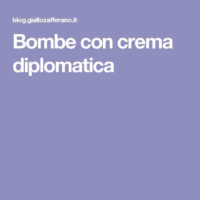 Bombe con crema diplomatica