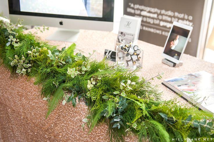 #tablerunner #bridaltable #umbrellafern #stenocarpus #eucalyptus #northsideflowermarket #millyjanephotgraphy