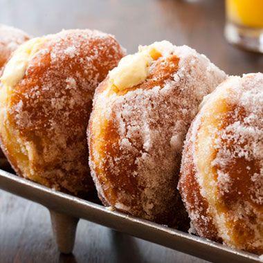 Vanilla Cream–Filled Doughnuts Recipe  | Epicurious.com