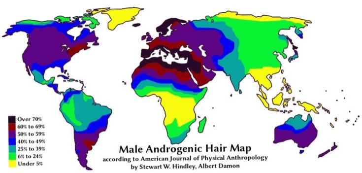Where men are the hairiest Androgenic hair refers to the body hair that develops after puberty.