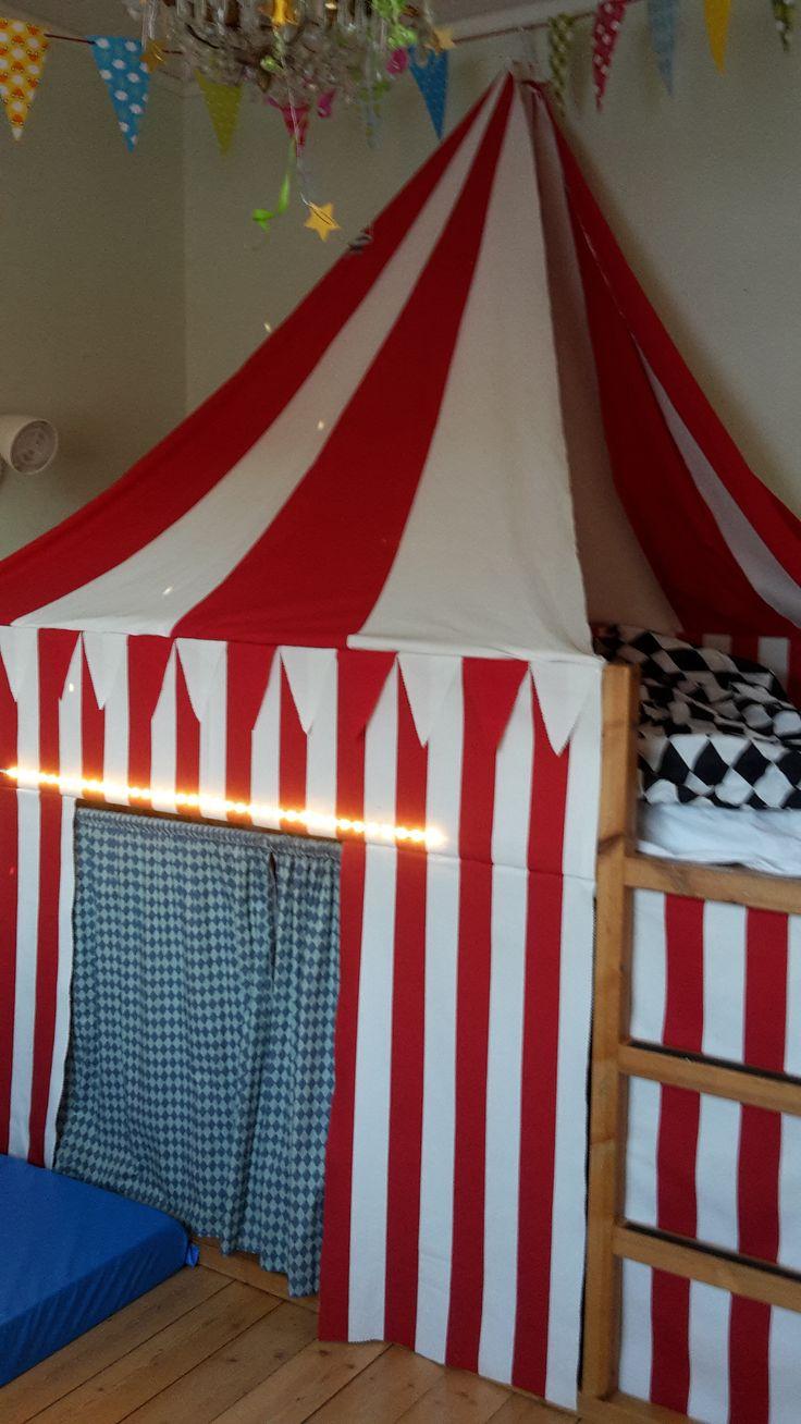 Circus tent made by IKEA bunk bed KURA