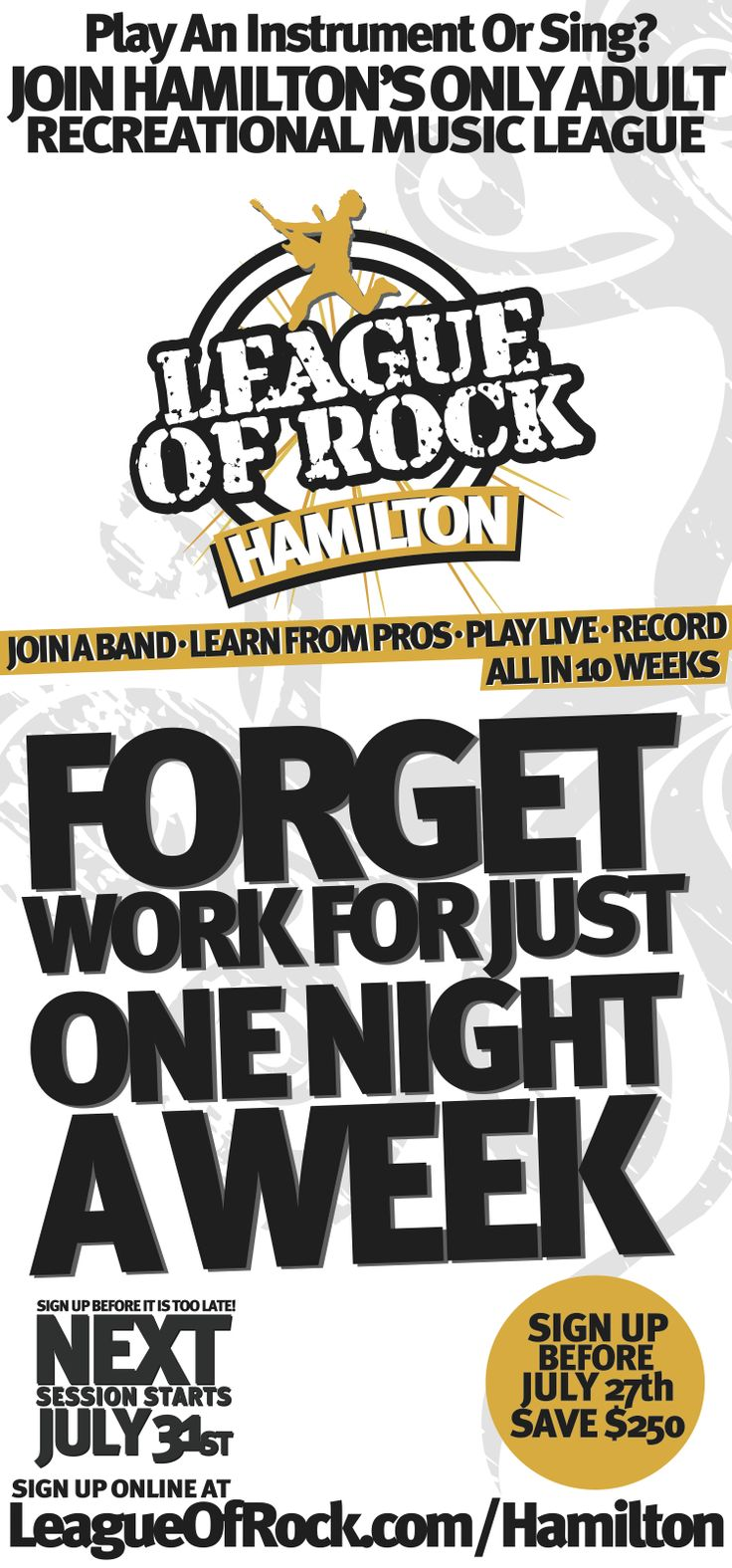 Forget Work For Just One Day!... And RAWK!
