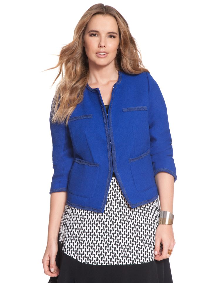 Marseilles Textured Blazer | Women's Plus Size Coats + Jackets