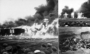 The moment Nazi death camp Bergen-Belsen death was burned down #DailyMail
