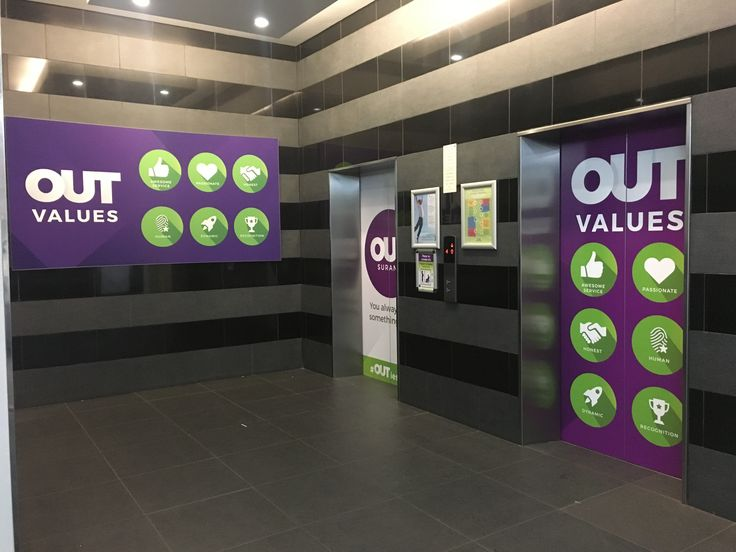 Building branding for Outsurance with their new logo