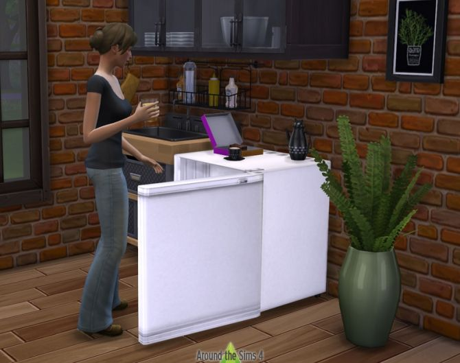 Sims 2 University Mini-Fridge at Around the Sims 4 via Sims 4 Updates