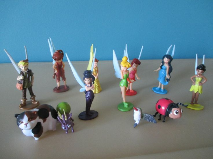 Disney Tinker Bell Pirate Fairy Cake Toppers Cupcake 12