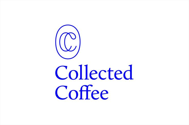 Monogram and logotype for New York coffee subscription service Collected Coffee by Fivethousand Fingers