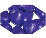 A bulk 1kg bag of Dolci Doro Purple Chocolate Hearts.