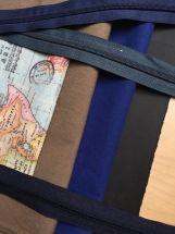 Rucksack Weltenbummler - Bundeswehr- Canvas, Weltkarten-Stoff und Snapap, als Rucksack oder Tasche tragbar, DIY in Münster, handmade by marinamia