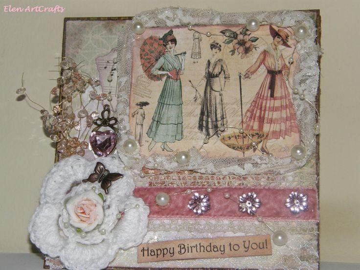 Elen ArtCrafts: Ευχές για τα γενέθλιά σου.../Wishes for your birth...