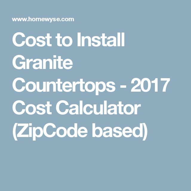 Granite Countertops Cost Calculator : Granite Countertops Cost on Pinterest Quartz countertops cost, Cost ...