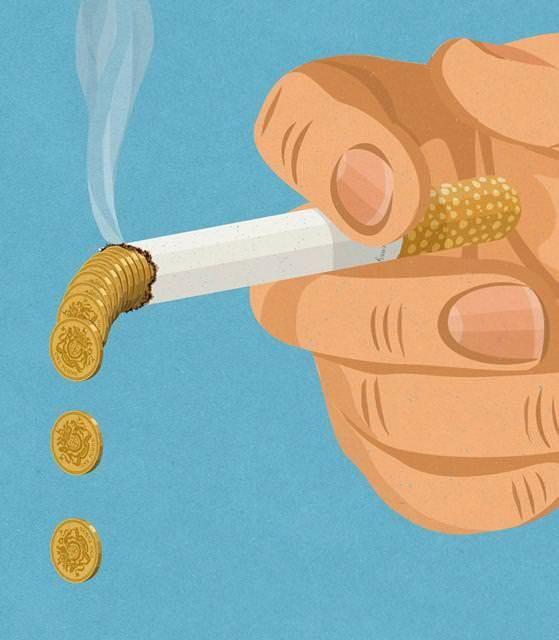 タバコはお金のムダ