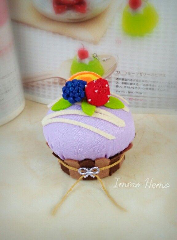 Grape cake pincushion