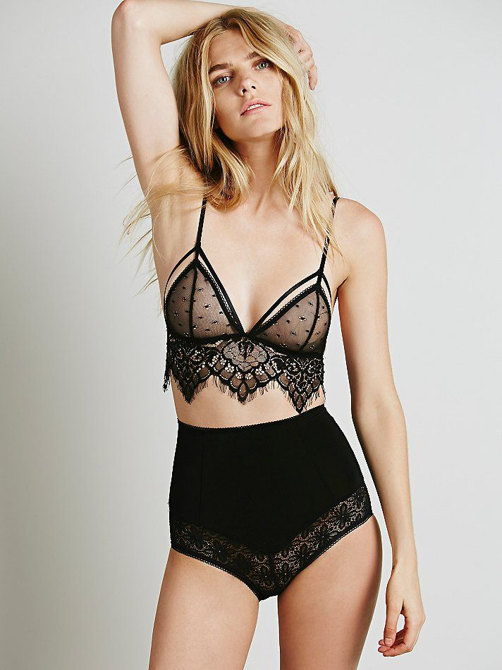 Skivvies by For Love & Lemons Femme Fatale Hi Waist Undie at Free People Clothing Boutique: