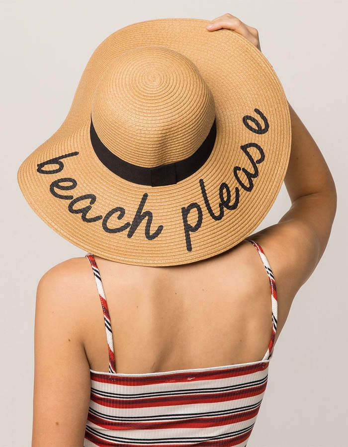 dc37d396 Beach Please Womens Straw Hat, Women's hat for summer beach hat floppy hat  for beach, perfect for vacation