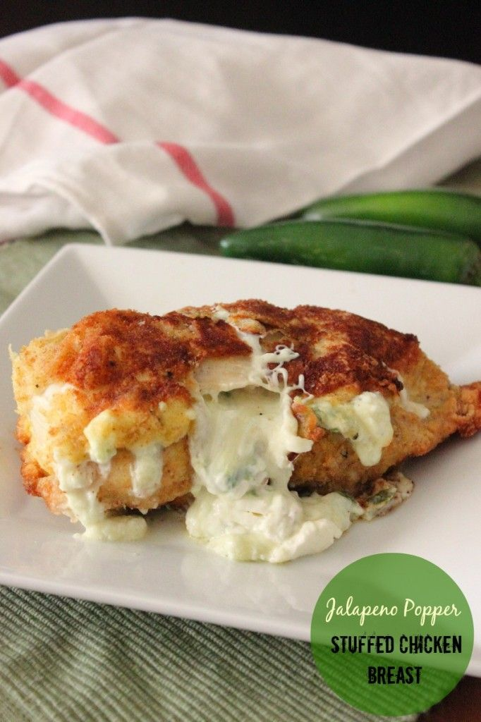 Jalapeno Popper Stuffed Chicken Breast. WOW. That looks amazing!