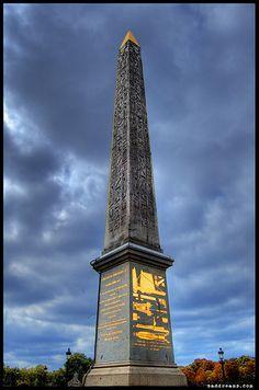 Cleopatra's Needle in London.