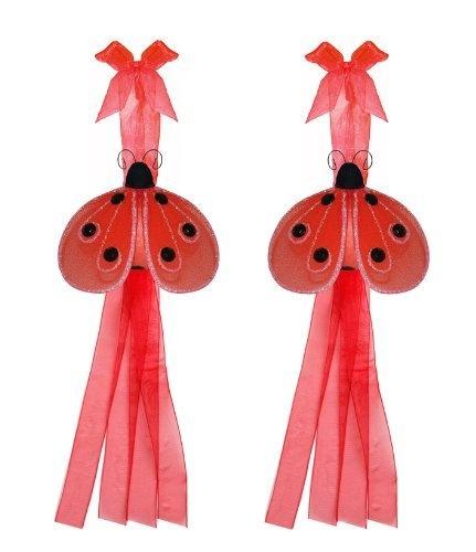 Red Shimmer Ladybug Curtain Tieback Pair / Set - tiebacks holder sheer ...