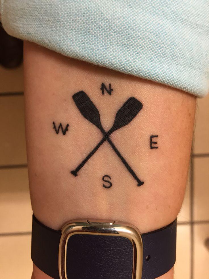 My new tattoo. Compass and paddles | Tattoo | River tattoo ...