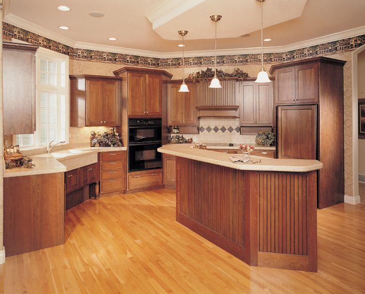 Friendly warm kitchen 051s 0060 houseplansandmore for Warm kitchen flooring