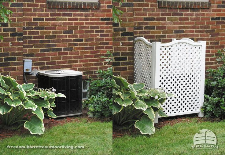 Hide air conditioning units and other mechanical equipment with a low maintenance lattice panel - Garden ideas to hide fence ...