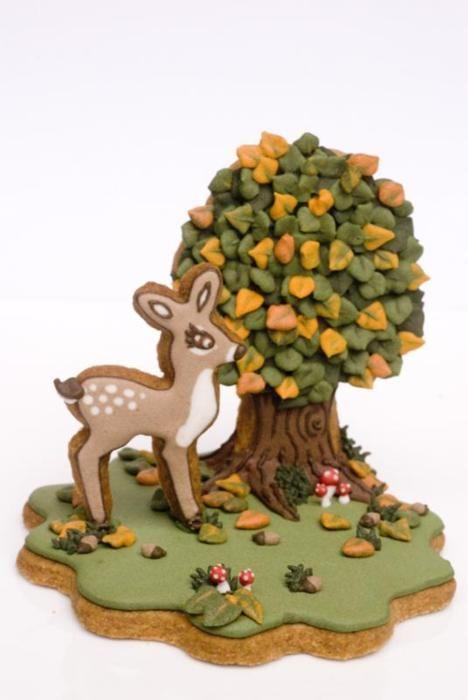 Deer and tree cookies