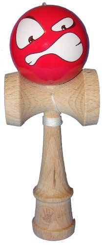 5K Kendama - Red Angry Face, Extra String Included - List price: $22.95 Price: $15.95
